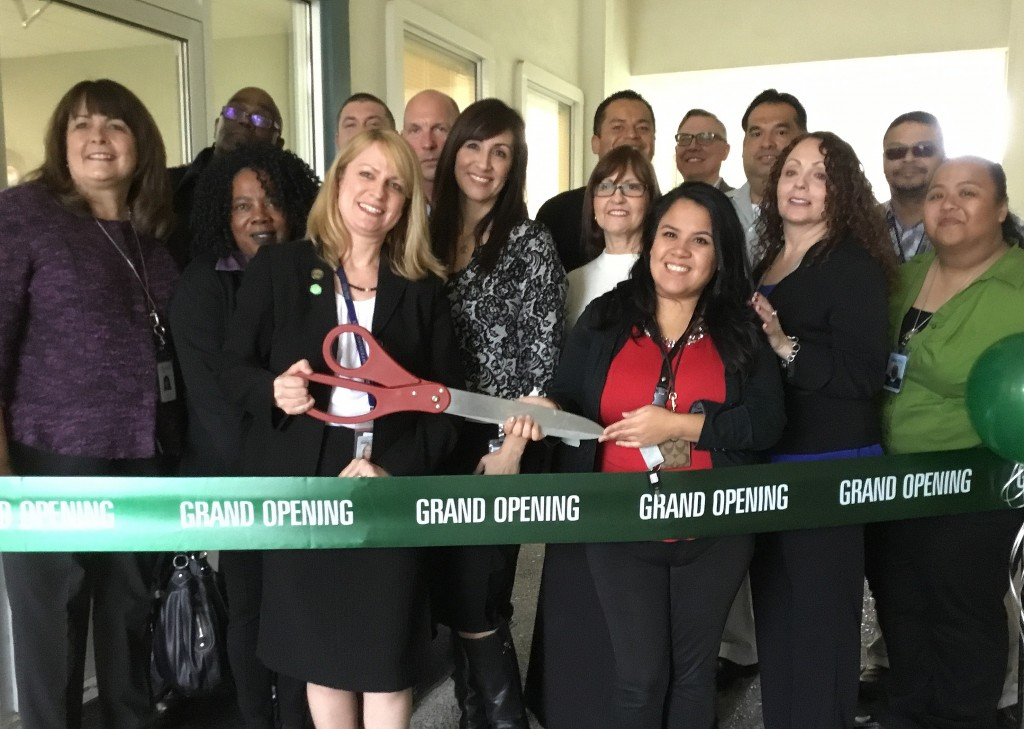 Contra Costa Action Team members cut the ribbon at the new health center in Concord, on Thursday, March 10, 2016.