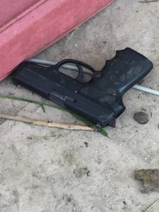 Gun of the suspect in Friday standoff in Byron. courtesy of CCC Office of Sheriff