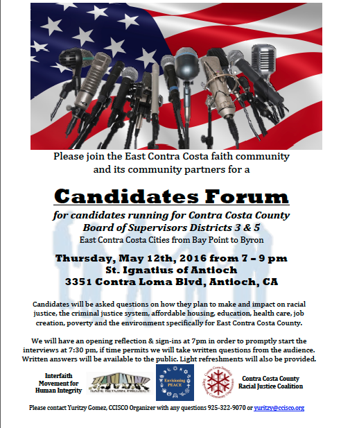 CISCO Candidates Forum Thurs 5-12-15
