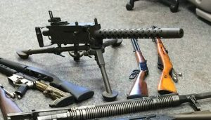 Seized .30 caliber machine gun.