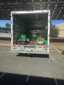 stolen items truck