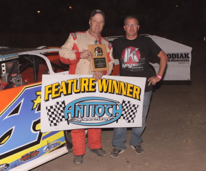 Richard Papenhausen #4p scored his third $1,500 DIRTcar Late Model win of the season, and he appears to be headed for his second championship in three seasons. Photo by Paul Gould