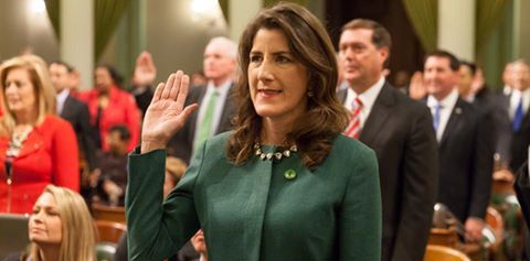 Assemblywoman Baker takes oath of office for second term on Monday, December 5, 2016. Photo courtesy of Catharine Baker.